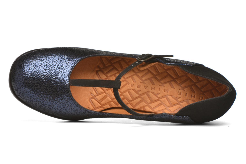 Zapatos de tacón Chie Mihara Atipo Azul vista lateral izquierda