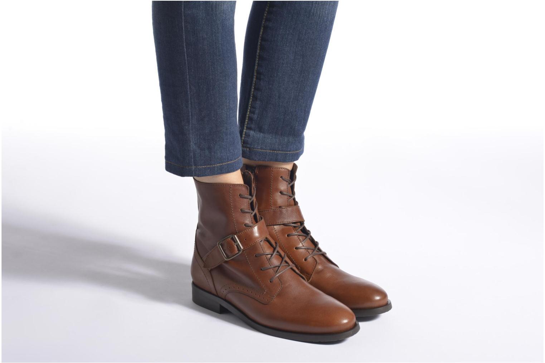 Bottines et boots HE Spring Coton Marron vue bas / vue portée sac