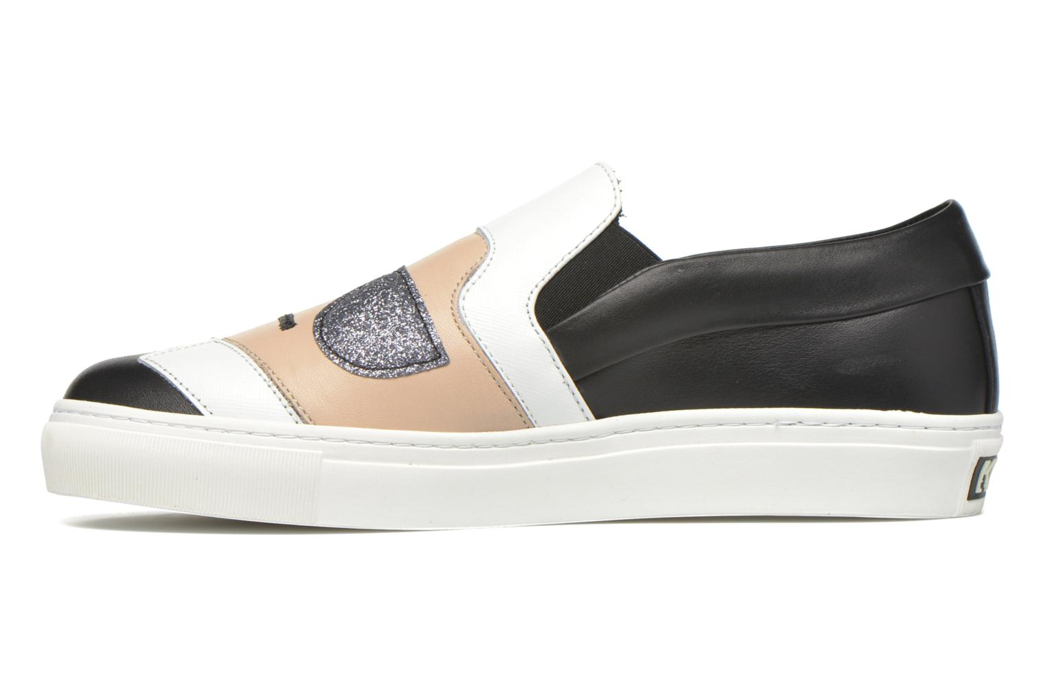 Sneakers Karl Lagerfeld Cocktail Sleep On Choupette Beige immagine frontale