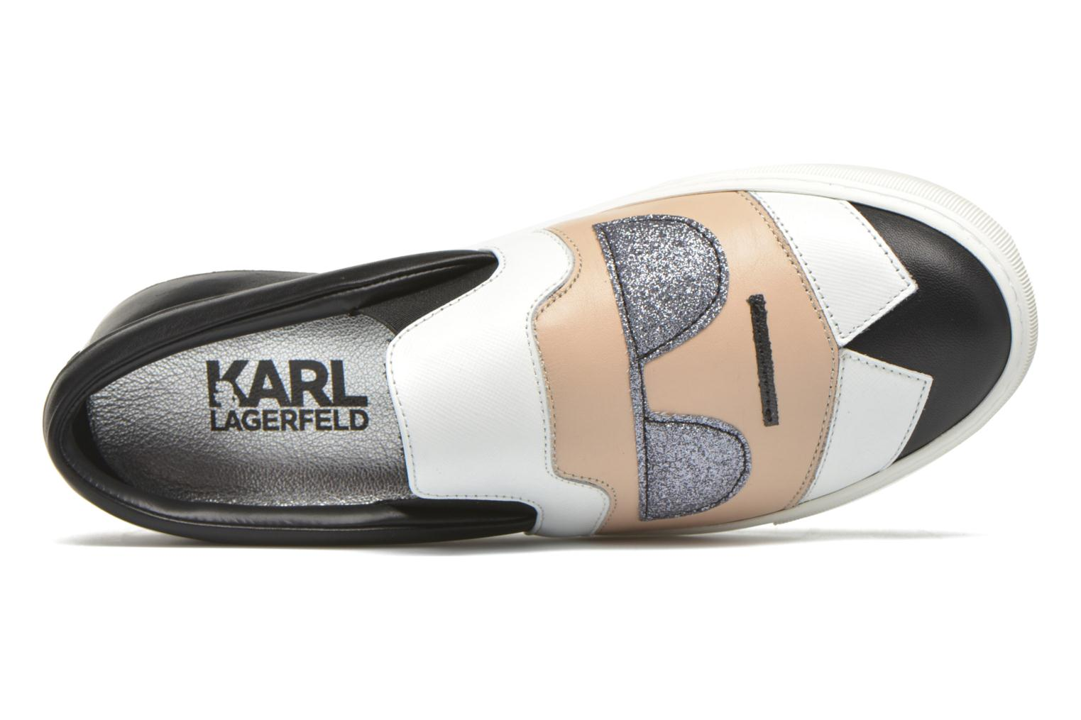 Sneakers Karl Lagerfeld Cocktail Sleep On Choupette Beige immagine sinistra