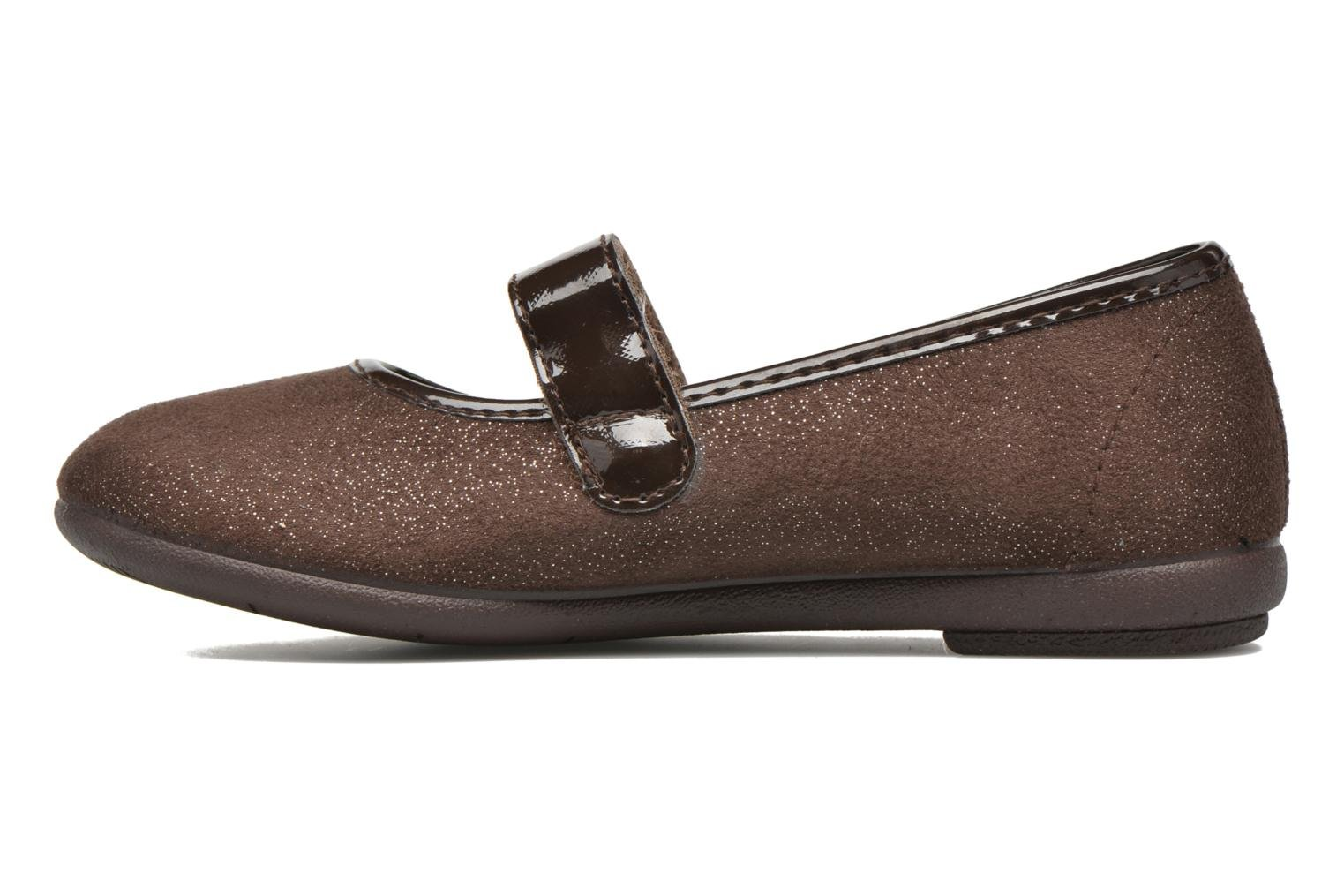 Ballet pumps I Love Shoes mantaisie Brown front view