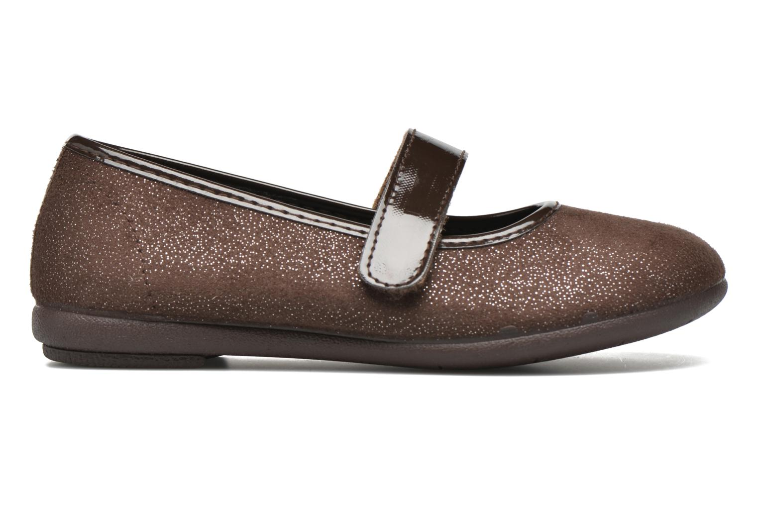 Ballet pumps I Love Shoes mantaisie Brown back view