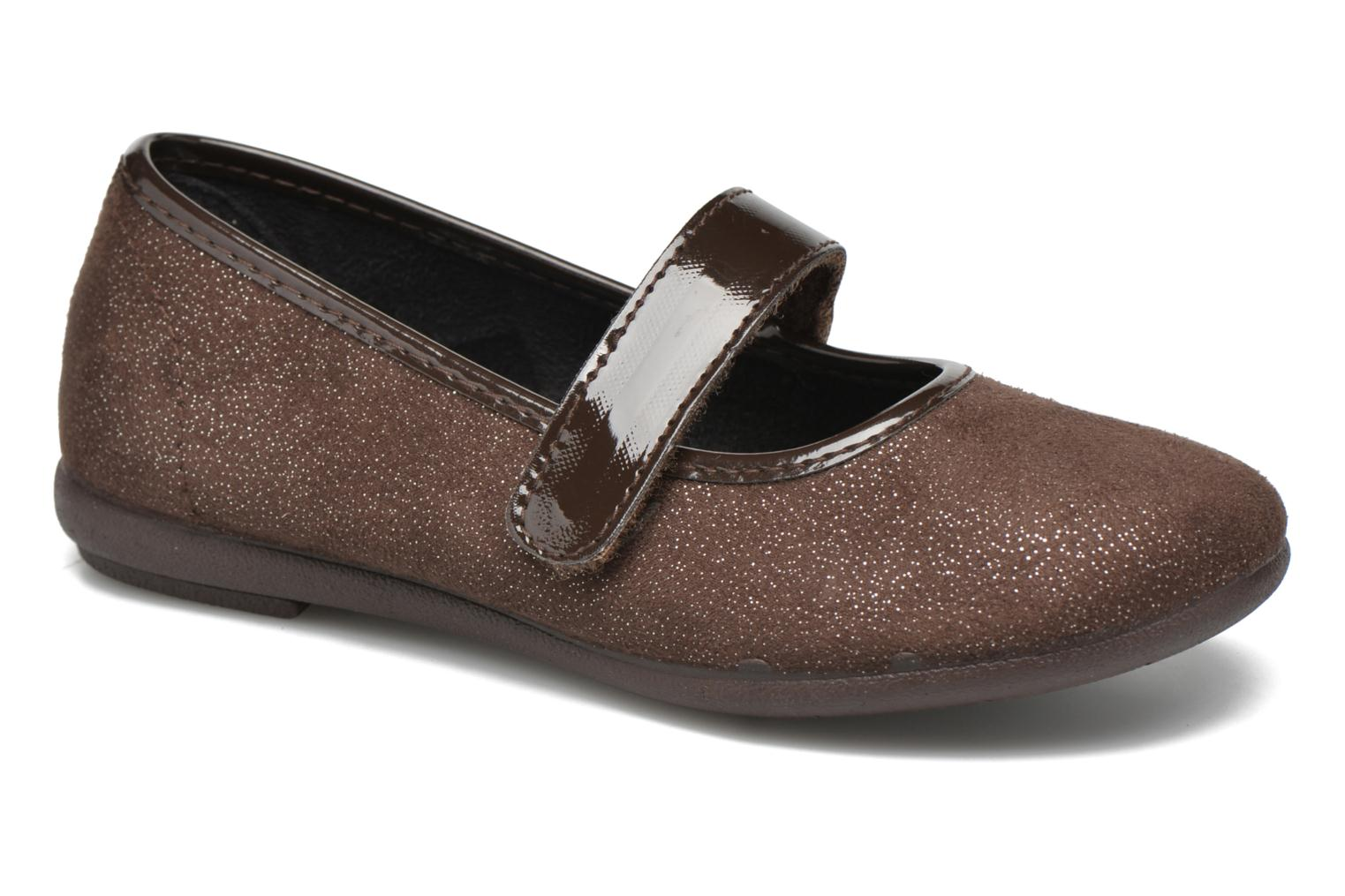 Ballet pumps I Love Shoes mantaisie Brown detailed view/ Pair view