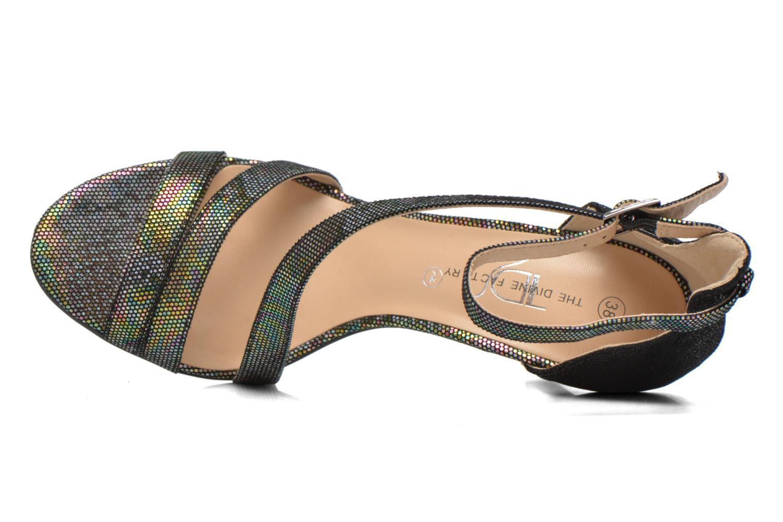 Sandales et nu-pieds Divine Factory Flufia Noir vue gauche