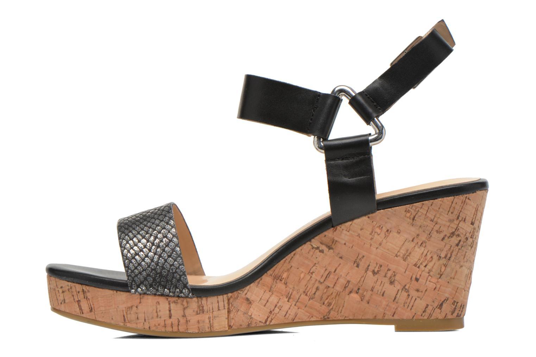 Sandales et nu-pieds Divine Factory Cotonilla Noir vue face