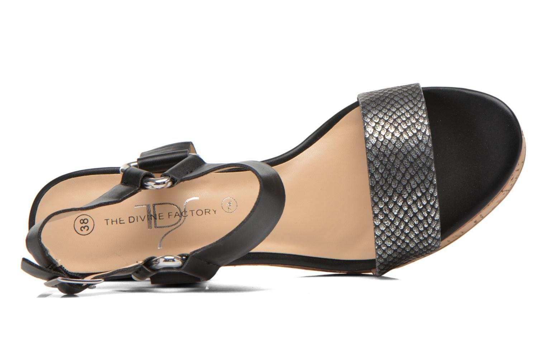 Sandales et nu-pieds Divine Factory Cotonilla Noir vue gauche