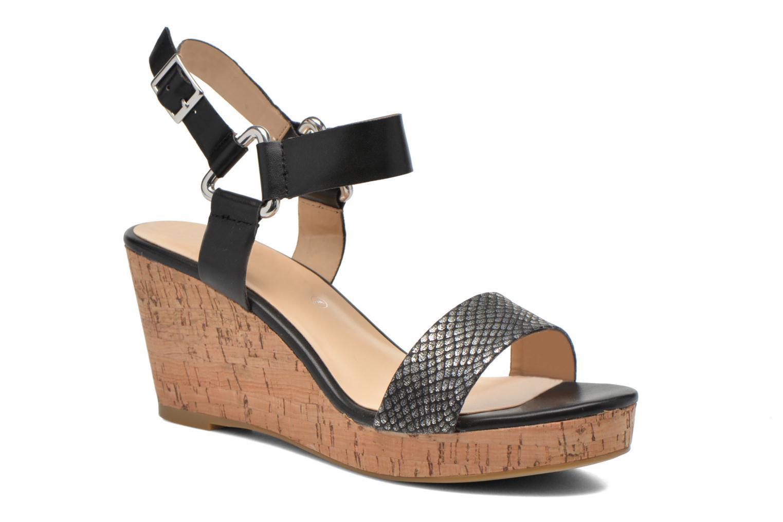 Sandales et nu-pieds Divine Factory Cotonilla Noir vue détail/paire