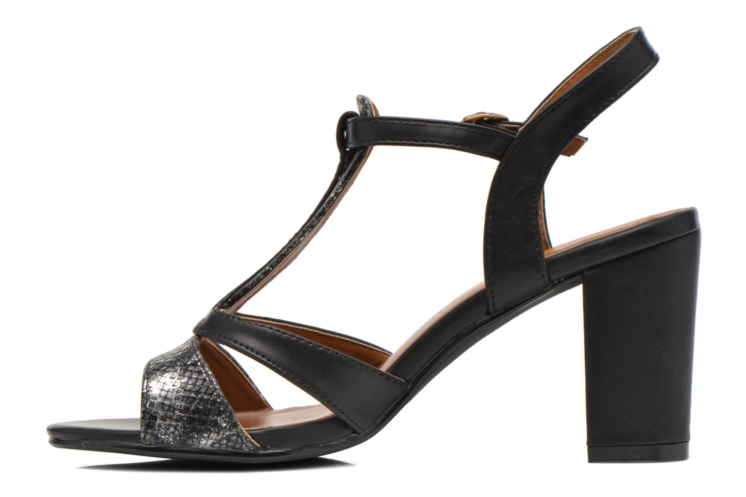 Sandals Divine Factory Yolina Black front view