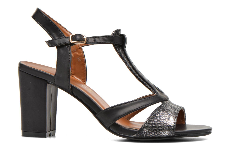 Sandales et nu-pieds Divine Factory Yolina Noir vue derrière