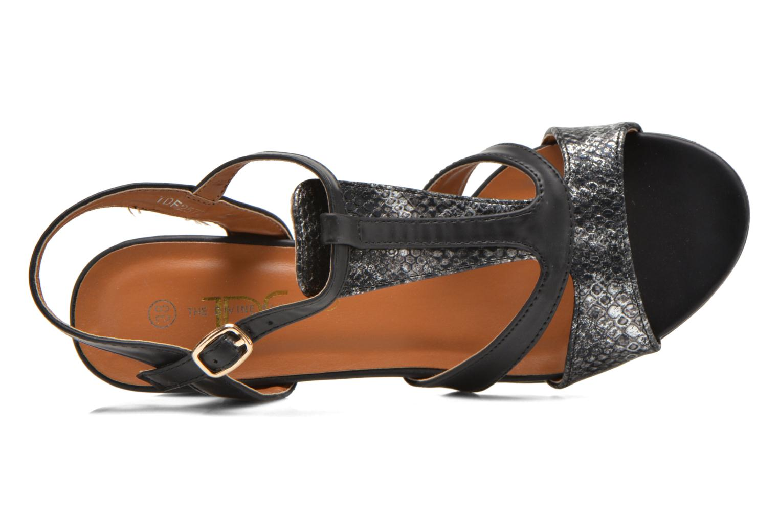 Sandals Divine Factory Yolina Black view from the left