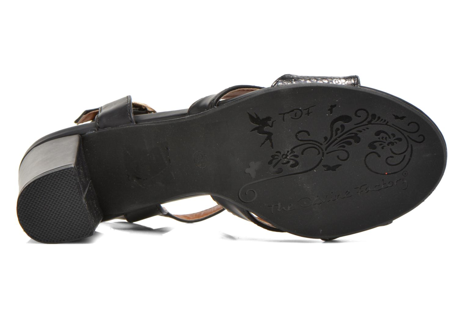 Sandals Divine Factory Yolina Black view from above