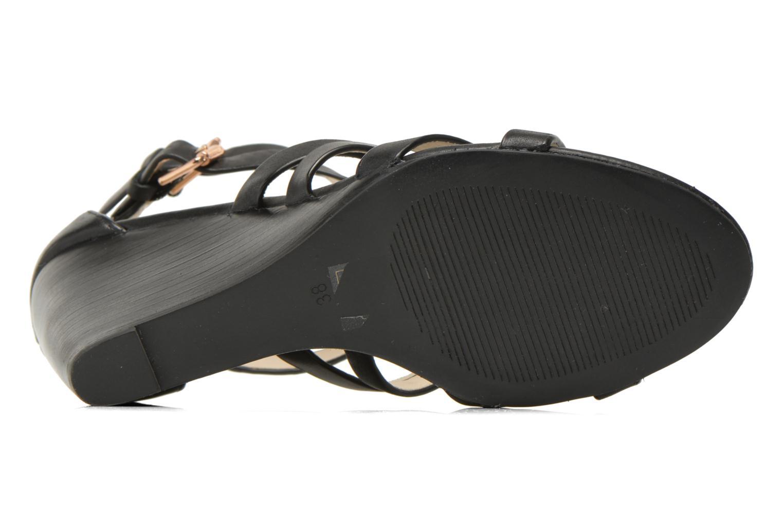 Sandales et nu-pieds Buffalo Evelina Noir vue haut