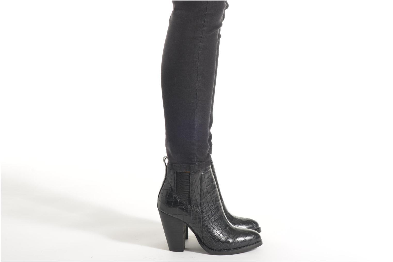 Bottines et boots Buffalo Noely Noir vue bas / vue portée sac