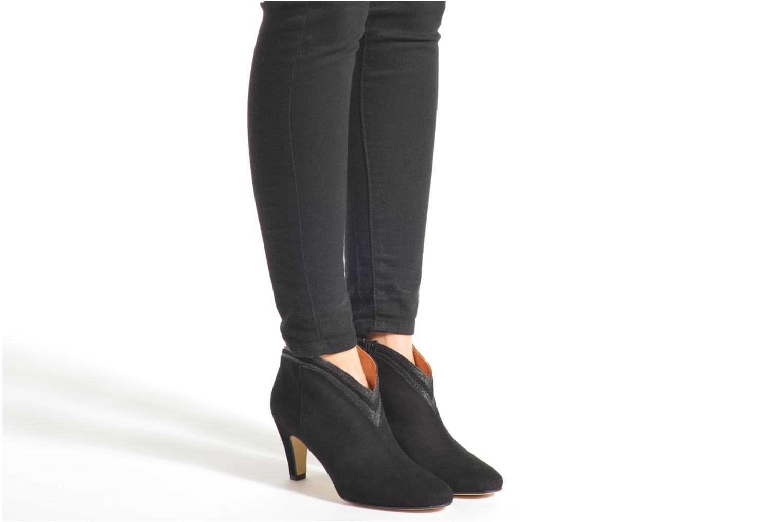 Bottines et boots Petite mendigote Granier Noir vue bas / vue portée sac
