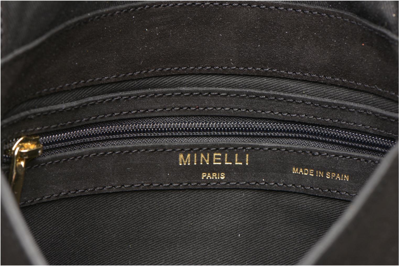 Handtaschen Minelli MC 909/VEL Porté travers schwarz ansicht von hinten