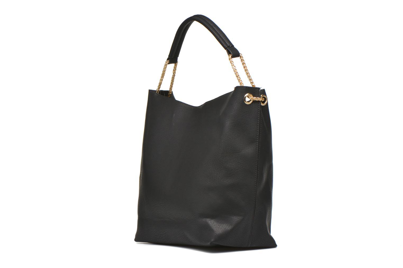 Handtaschen Minelli MS 911 Porté épaule schwarz ansicht von rechts