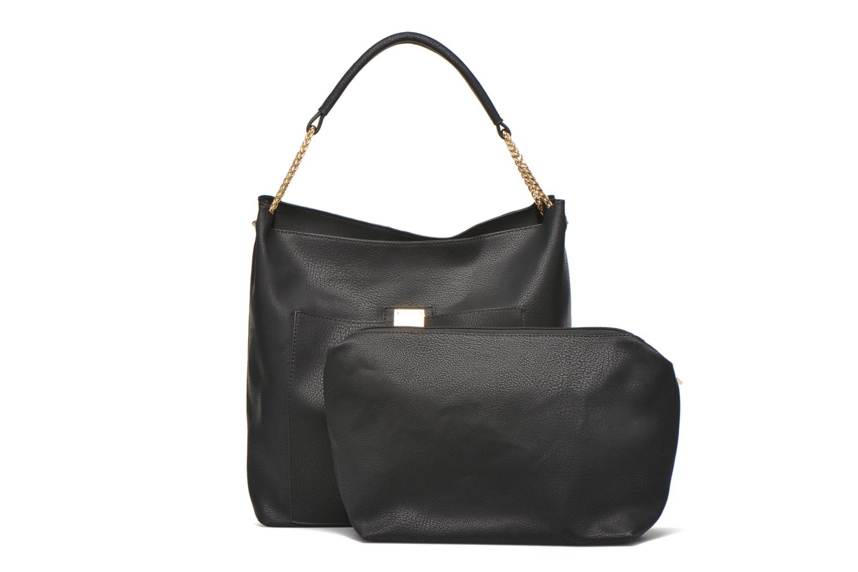 Handtaschen Minelli MS 911 Porté épaule schwarz ansicht von links
