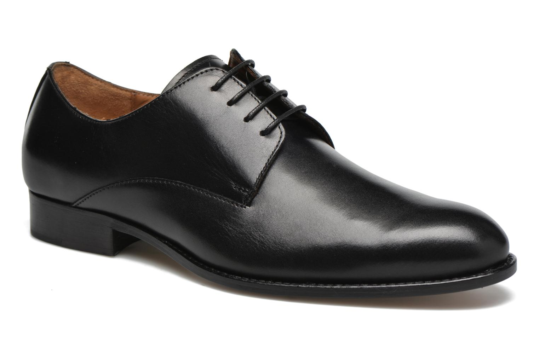 Snøresko Marvin&Co Naust Sort detaljeret billede af skoene