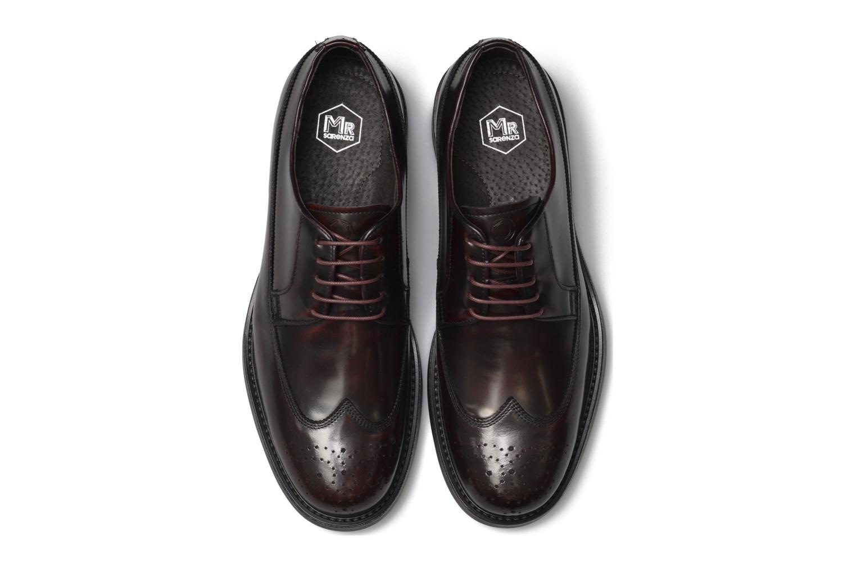 Chaussures à lacets Mr SARENZA Notheam Bordeaux vue portées chaussures