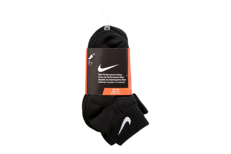 Nike Cotton Cushion Quarter Training Sock (3 Pair) BLACK(WHITE)