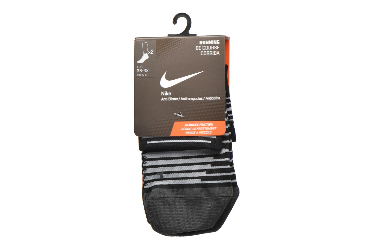 Socks & tights Nike Nike Dri-FIT Lightweight Quarter Running Sock (2 Pair) Black back view