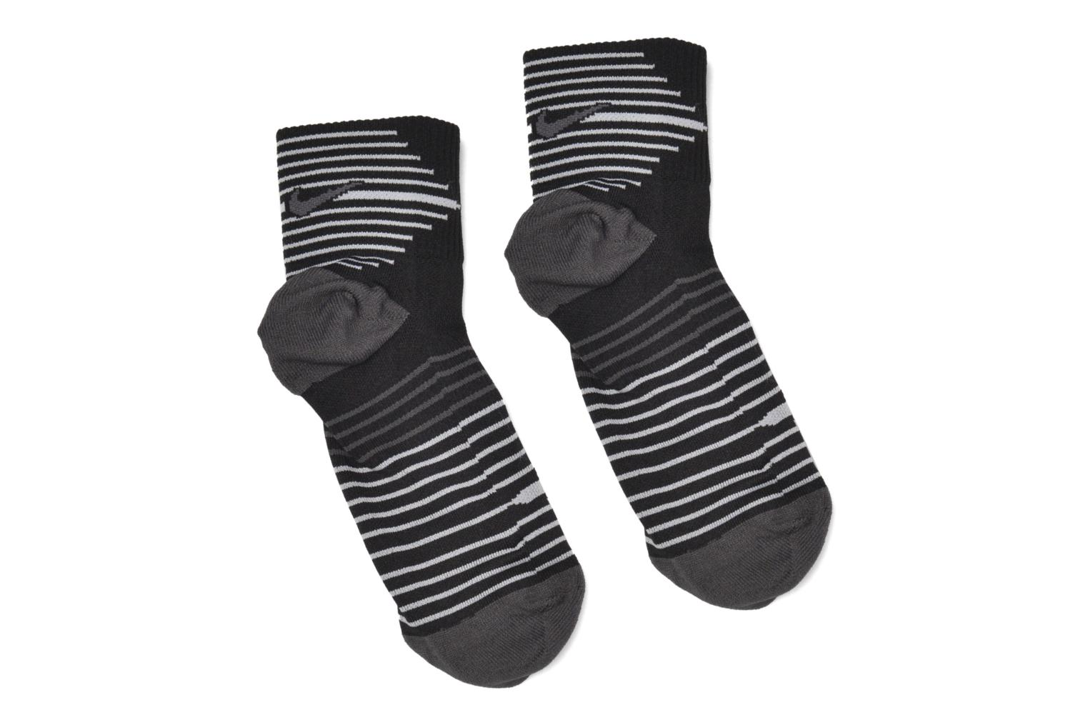 Socks & tights Nike Nike Dri-FIT Lightweight Quarter Running Sock (2 Pair) Black detailed view/ Pair view