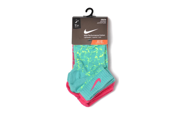 Chaussettes et collants Nike Girls' Nike Graphic Lightweight Cotton Low-Cut Socks (3 Pair) Rose vue derrière