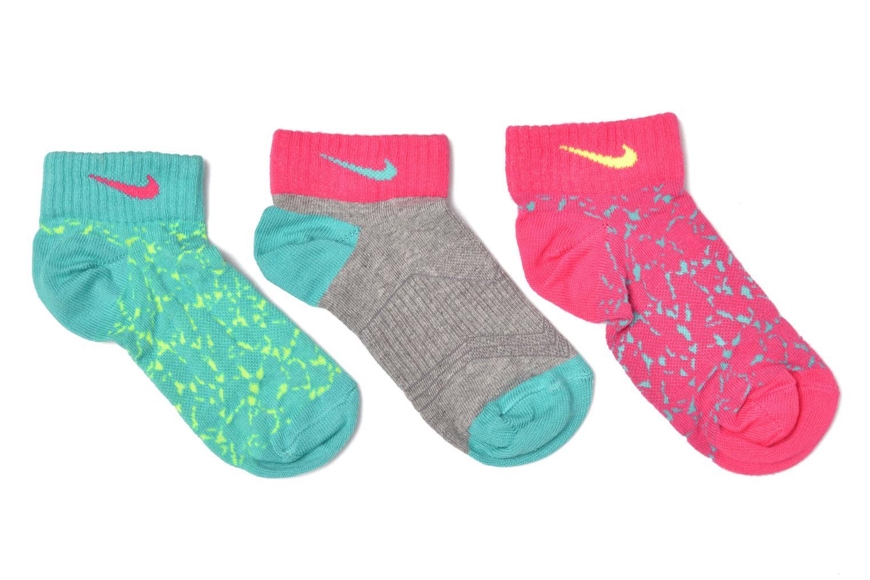 Girls' Nike Graphic Lightweight Cotton Low-Cut Socks (3 Pair) WT/(VP)/DG/(WT)/VP/(VT)