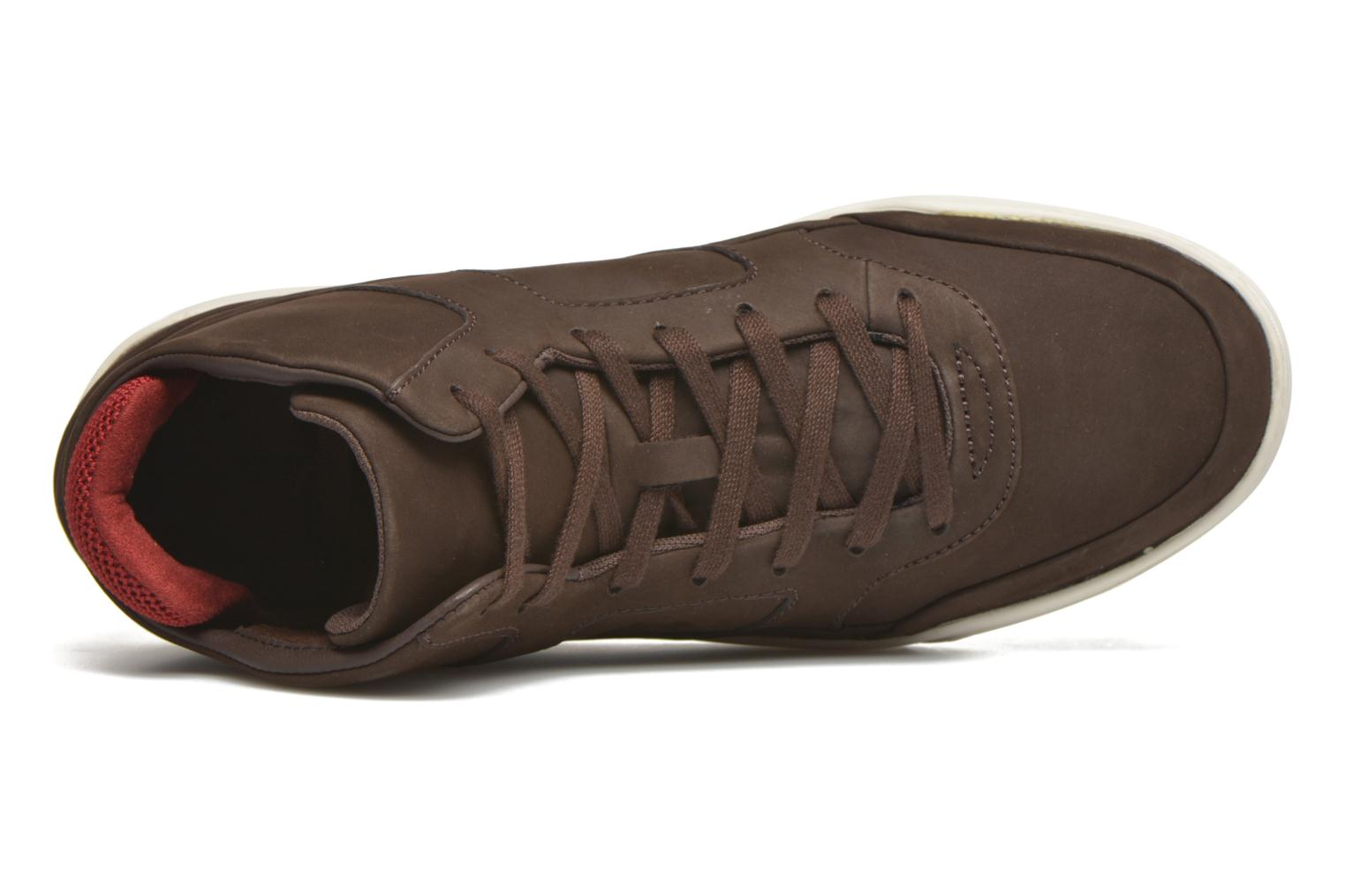 Baskets Lacoste Explorateur Mid 416 1 Marron vue gauche