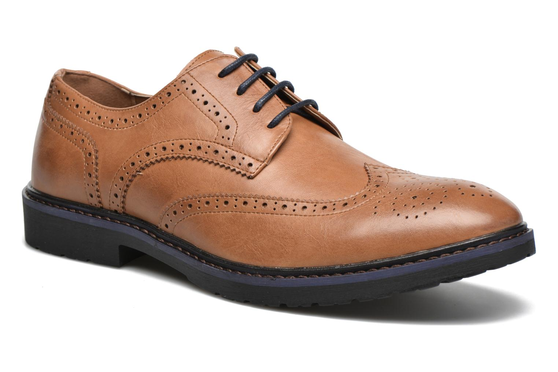 Veterschoenen I Love Shoes THEM Bruin detail