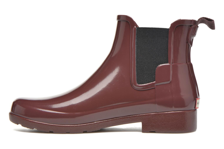 Bottines et boots Hunter Original Refined Chelsea Gloss Violet vue face
