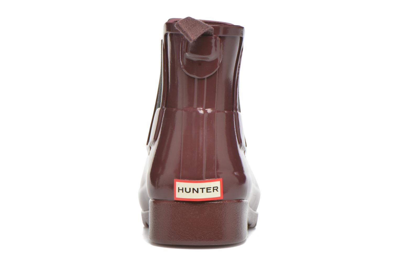 Stivaletti e tronchetti Hunter Original Refined Chelsea Gloss Viola immagine destra