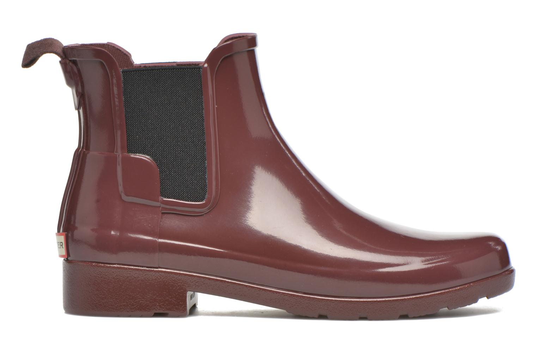 Bottines et boots Hunter Original Refined Chelsea Gloss Violet vue derrière