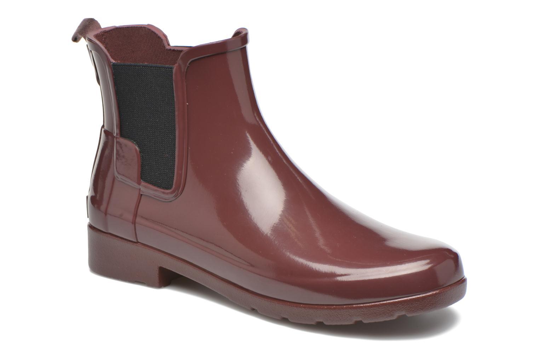 Bottines et boots Hunter Original Refined Chelsea Gloss Violet vue détail/paire