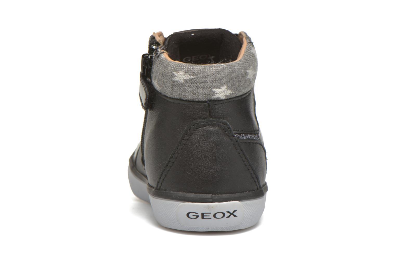 Sneaker Geox B Kiwi Girl B54D5E schwarz ansicht von rechts