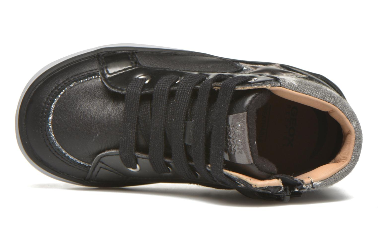 Trainers Geox B Kiwi Girl B54D5E Black view from the left