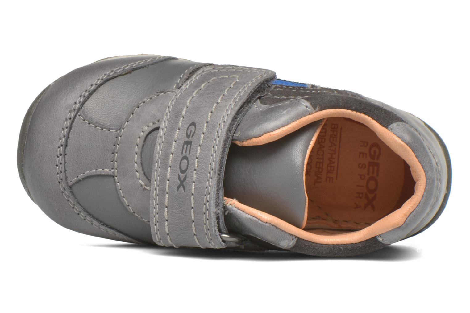 Velcro shoes Geox B Each Boy B540BD Grey view from the left