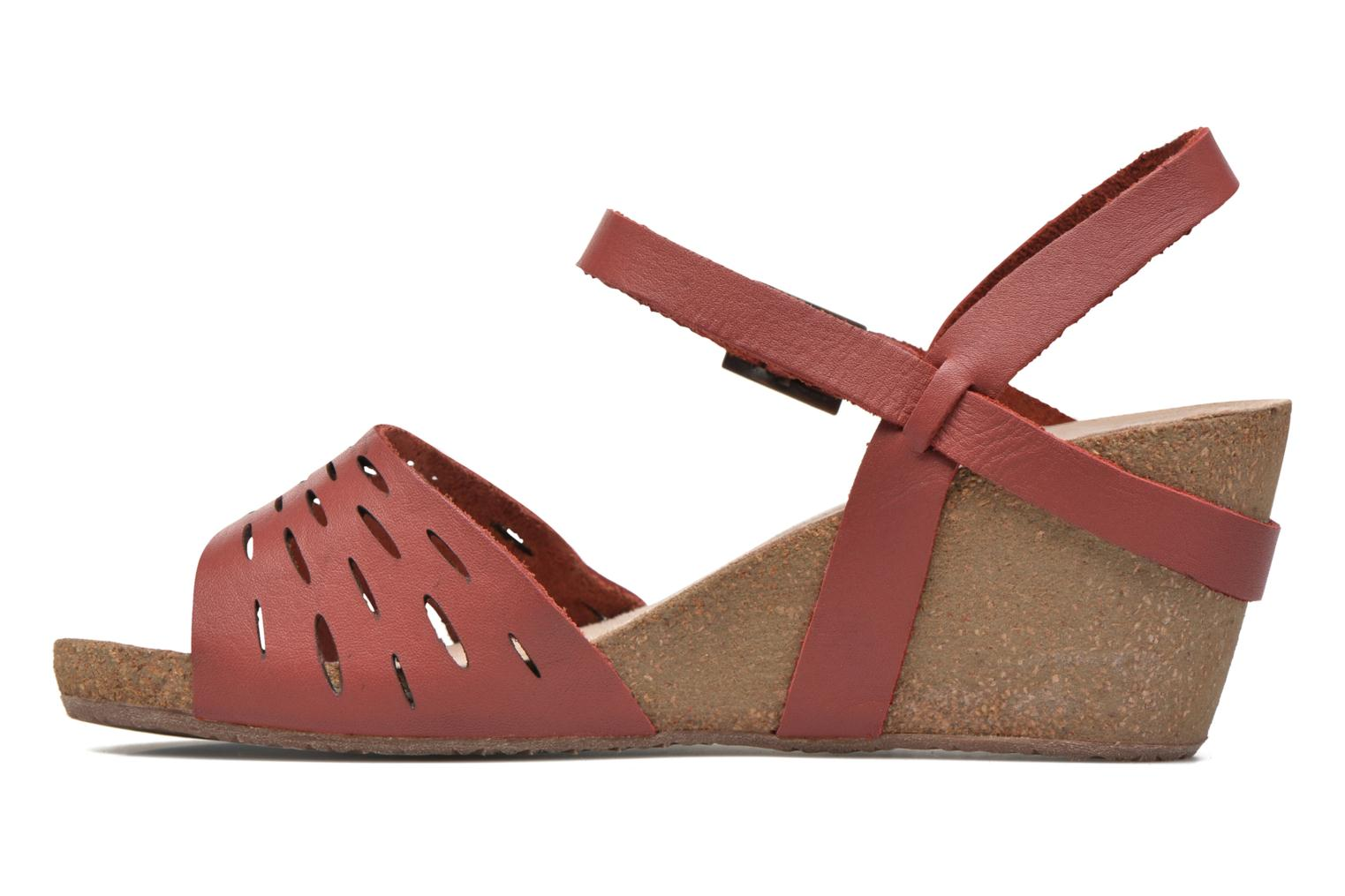 Sandals TBS Riffah Red front view
