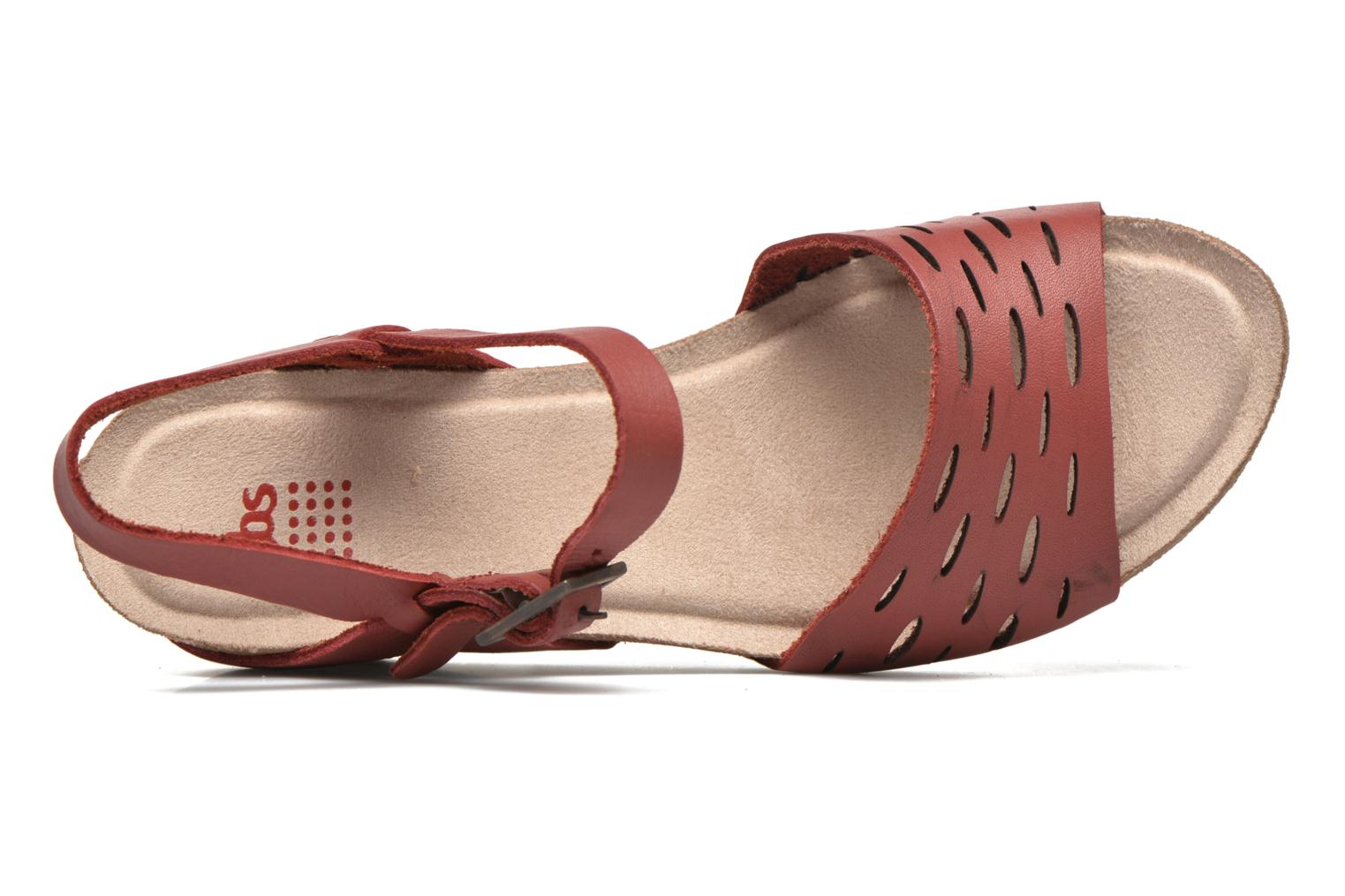 Sandals TBS Riffah Red view from the left