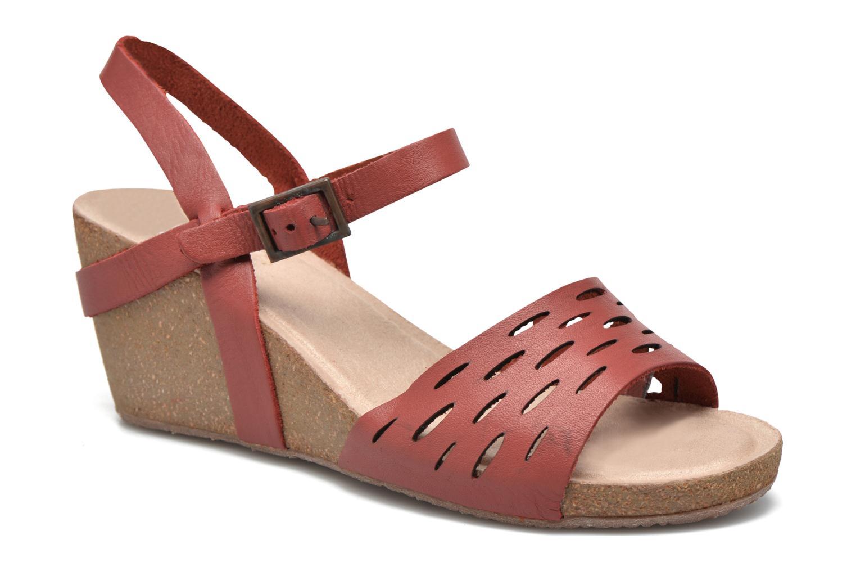 Sandaler TBS Riffah Rød detaljeret billede af skoene