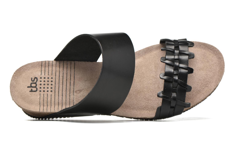 Sandales et nu-pieds TBS Kazuno Noir vue gauche