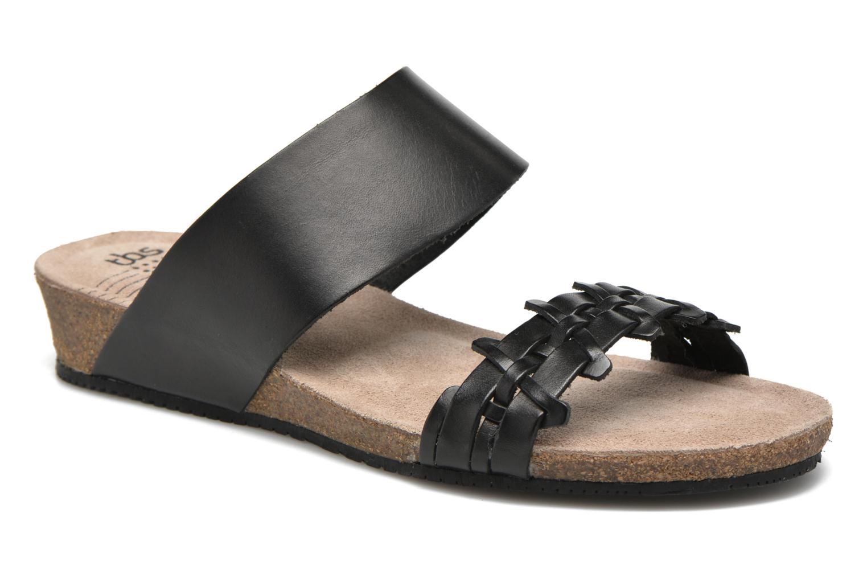 Sandales et nu-pieds TBS Kazuno Noir vue détail/paire