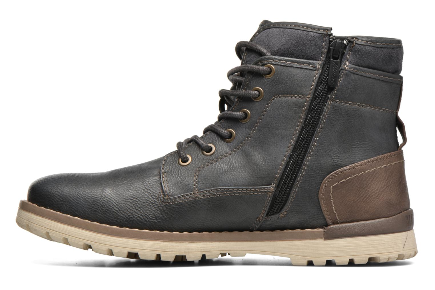 Ankle boots Mustang shoes Muska Blue front view