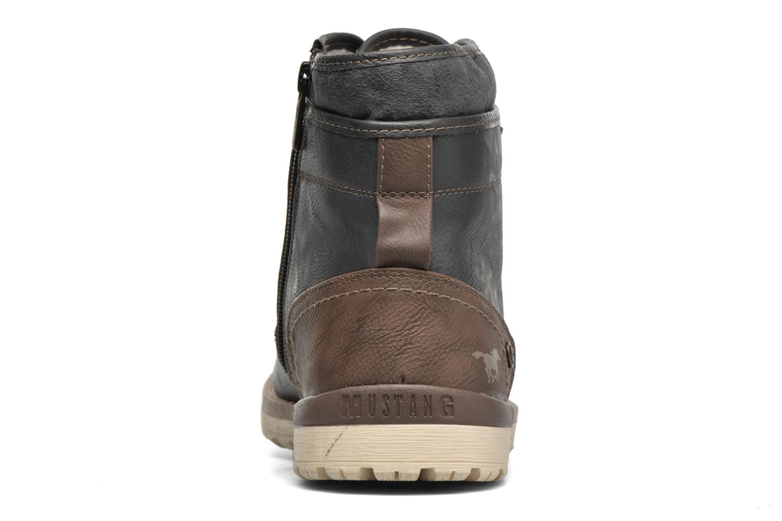 Ankle boots Mustang shoes Muska Blue view from the right