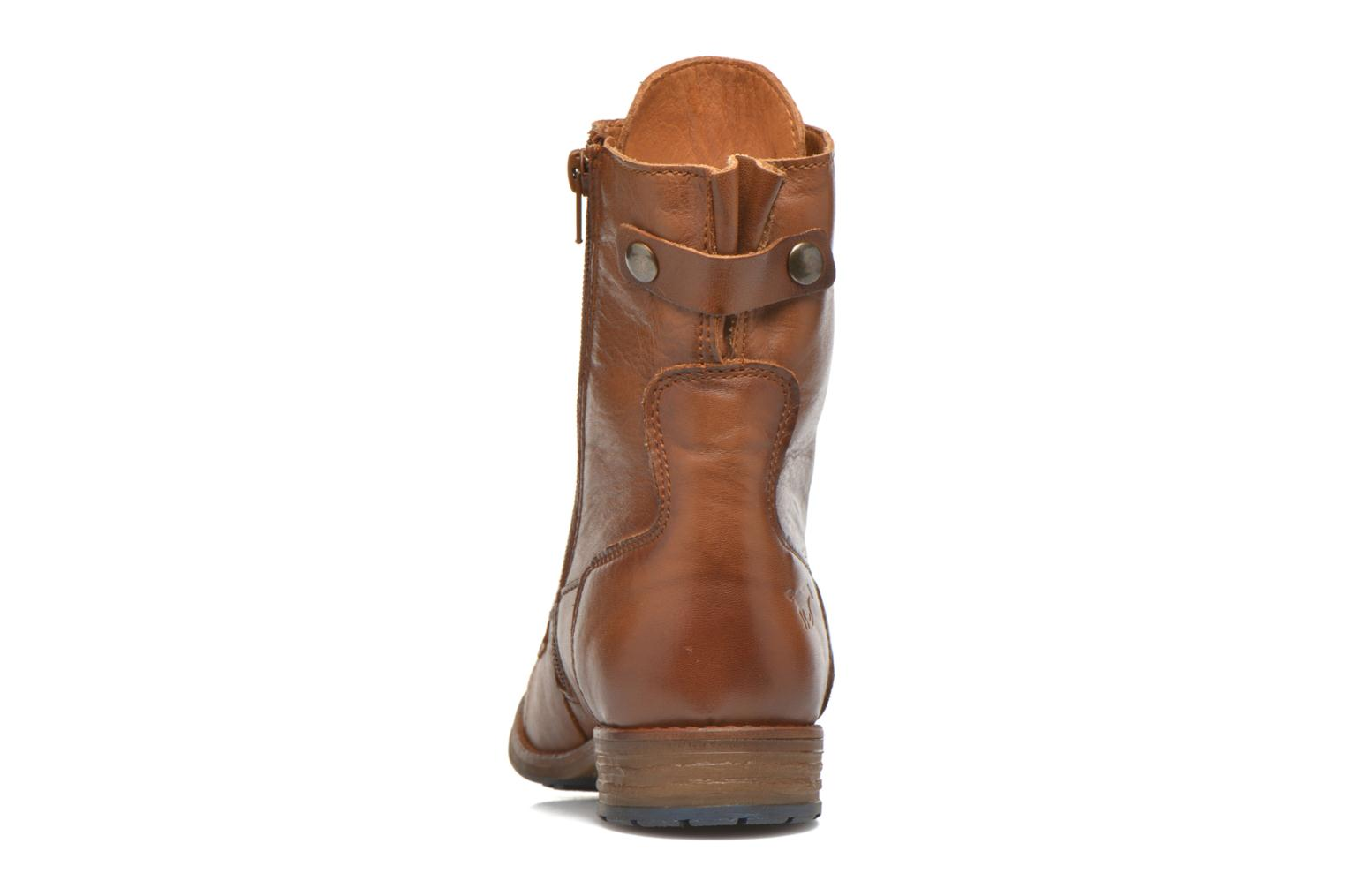 Ankle boots Mustang shoes Munie Brown view from the right