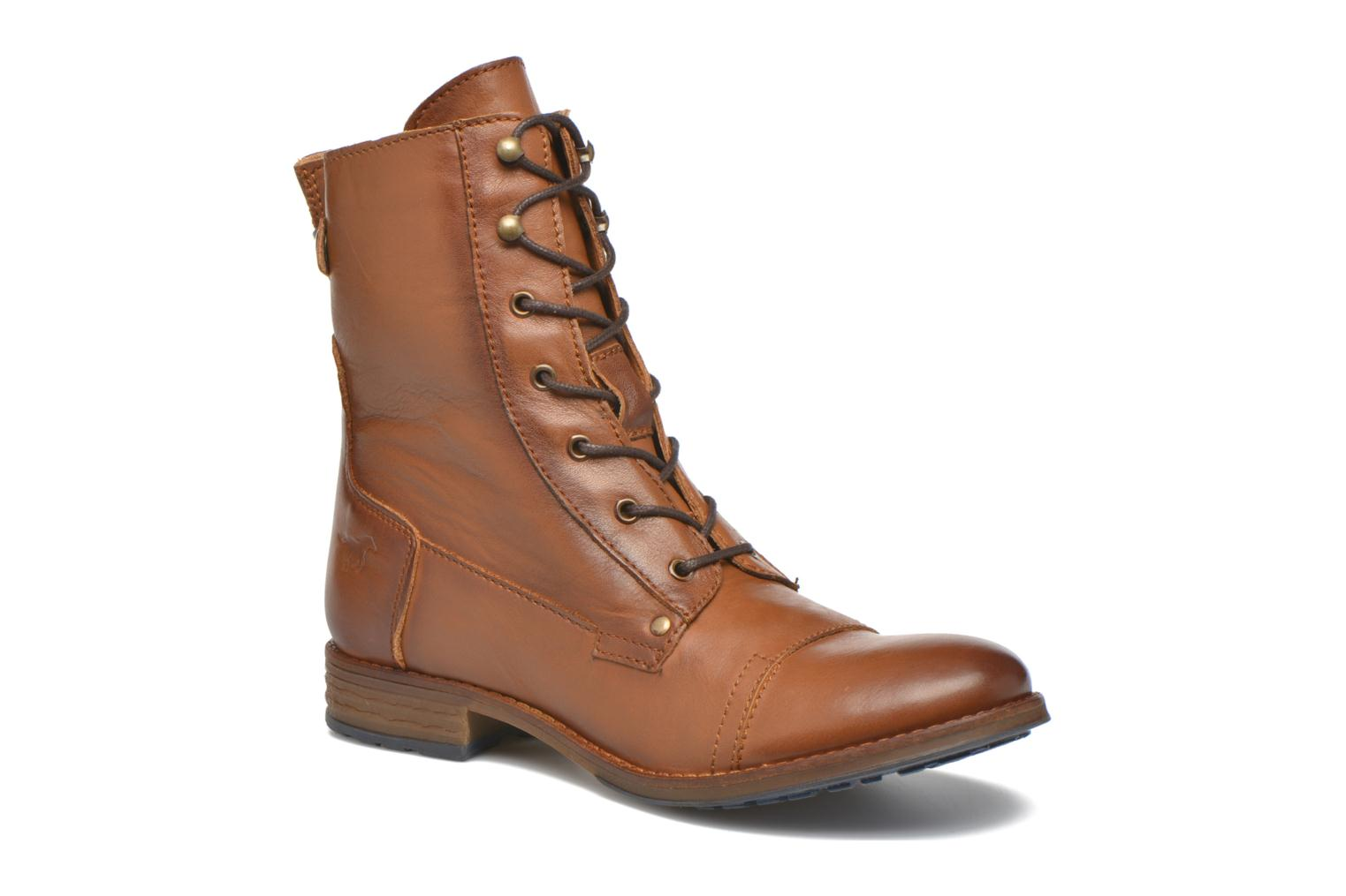Ankle boots Mustang shoes Munie Brown detailed view/ Pair view