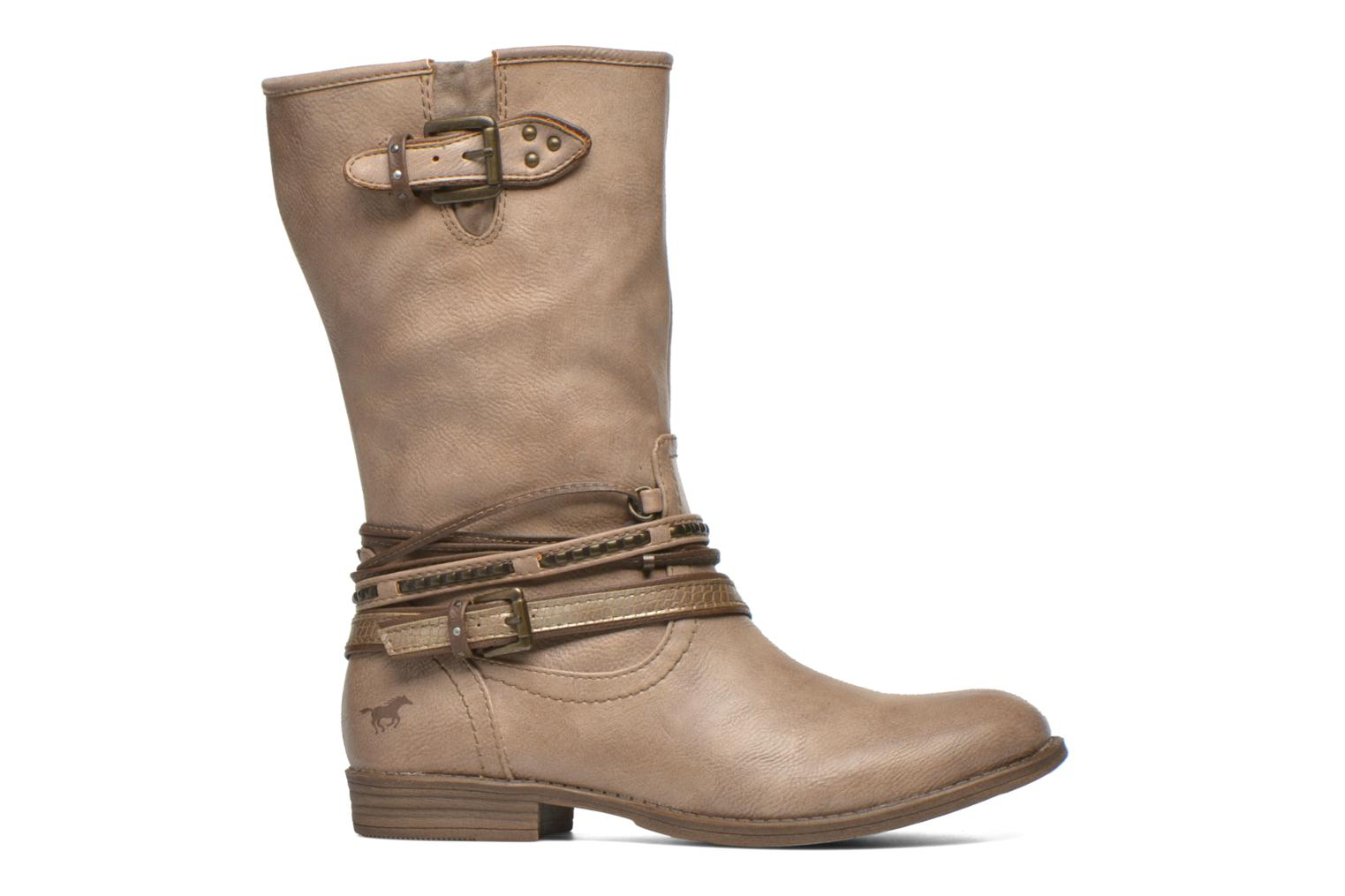 Ankle boots Mustang shoes Mupe Brown back view