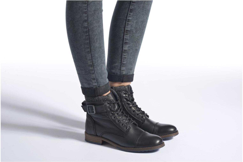 Boots en enkellaarsjes Mustang shoes Muwa Zwart onder