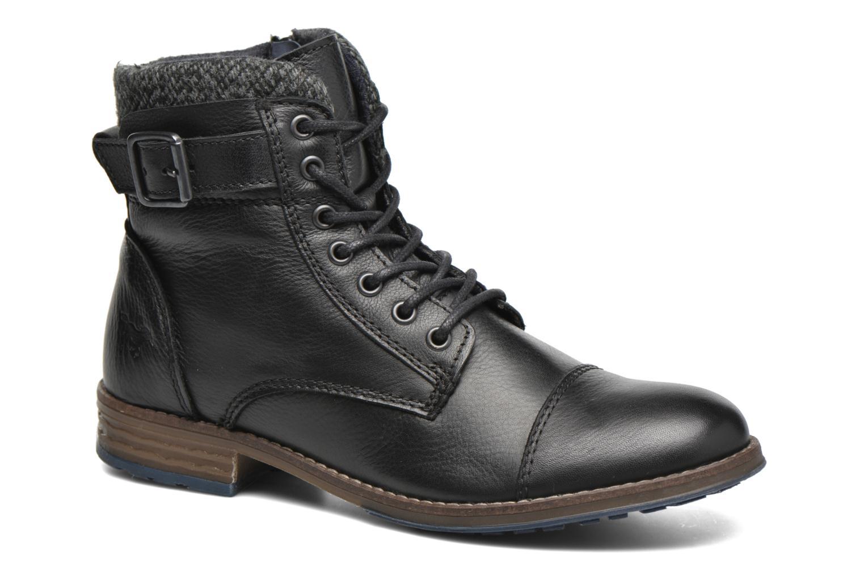 Boots en enkellaarsjes Mustang shoes Muwa Zwart detail