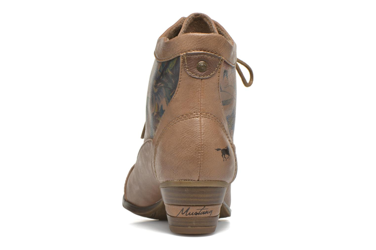Ankle boots Mustang shoes Manur Brown view from the right